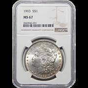 1903 Ngc MS67 Morgan Dollar