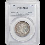 1796 Pcgs MS62 Draped Bust Quarter