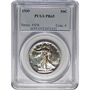 1939 Pcgs PR65 Walking Liberty Half Dollar