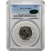 1937 Pcgs/Cac PR66 Buffalo Nickel
