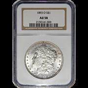 1893-O Ngc AU58 Morgan Dollar