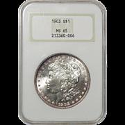 1903 Ngc MS65 Morgan Dollar