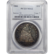 1846 Pcgs MS62 Liberty Seated Dollar