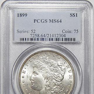 1899 Pcgs MS64 Morgan Dollar