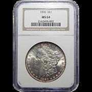 1890 Ngc MS64 Morgan Dollar