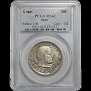1922 Pcgs MS62 Grant Star Half Dollar