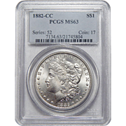 1882-CC Pcgs MS63 Morgan Dollar