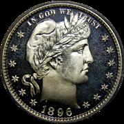 1896 Pcgs PR68DCAM Barber Quarter