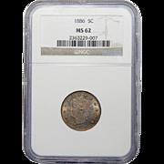 1886 Ngc MS62 Liberty Nickel