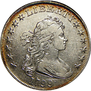 1799 Anacs XF45 Draped Bust Dollar