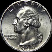 1939-D Ngc MS64 Washington Quarter