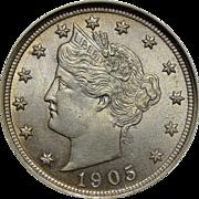 1905 Ngc MS65 Liberty Nickel