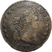 1799 Ngc XF40 Draped Bust Dollar