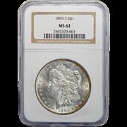 1894-S Ngc MS62 Morgan Dollar