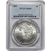 1880 Pcgs MS65 Morgan Dollar
