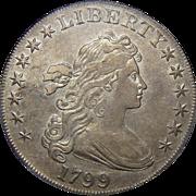 1799 Pcgs AU50 Draped Bust Dollar