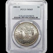 1882-O Pcgs MS65 Morgan Dollar