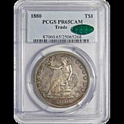 1880 Pcgs/Cac PR65CAM Trade Dollar