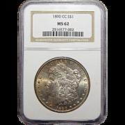 1890-CC Ngc MS62 Morgan Dollar