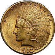 1910-S Pcgs MS63 $10 Indian Gold