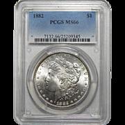 1882 Pcgs MS66 Morgan Dollar