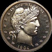 1904 Pcgs PR65 Barber Half Dollar