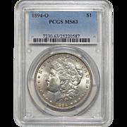 1894-O Pcgs MS63 Morgan Dollar
