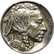 1936 Pcgs PR66 Brilliant Buffalo Nickel