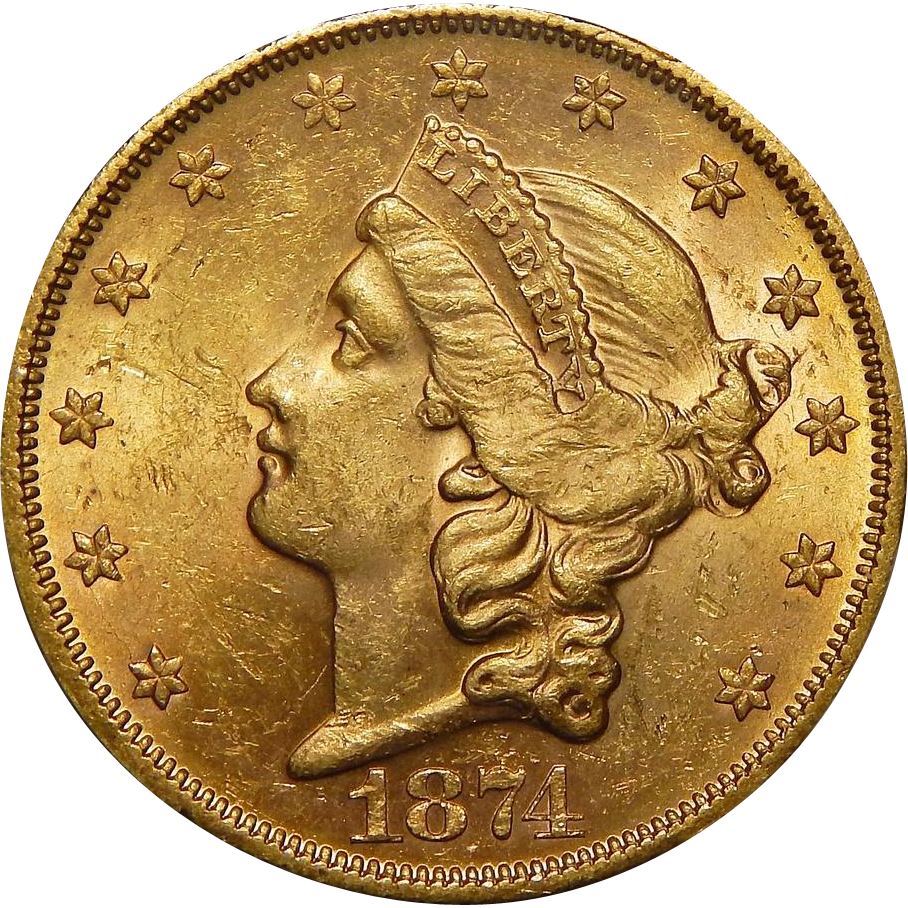 Gold And Silver Mining In Panama Mail: 1874-S Pcgs MS62 $20 Liberty Head Gold From Coin-and