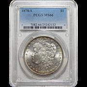 1878-S Pcgs MS66 Morgan Dollar