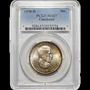 1936-D Pcgs MS67 Cincinnati Half Dollar