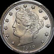1910 Pcgs MS66 Liberty Nickel