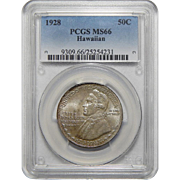 1928 Pcgs MS66 Hawaiian Half Dollar