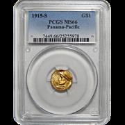 1915-S Pcgs MS66 $1 Panama-Pacific Gold