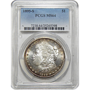 1895-S Pcgs MS64 Morgan Dollar