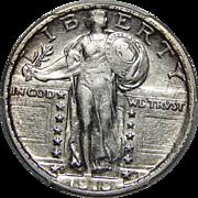 1918/7-S Pcgs AU53 Standing Liberty Quarter