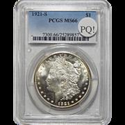 1921-S Pcgs MS66 PQ! Morgan Dollar