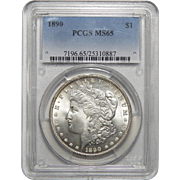 1890 Pcgs MS65 Morgan Dollar