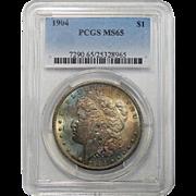 1904 Pcgs MS65 Morgan Dollar