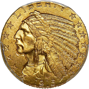 1915 Pcgs MS64 $5 Indian Gold