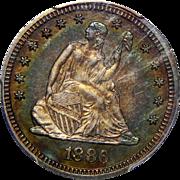 1886 Pcgs PR66 Liberty Seated Quarter