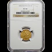 1836 Ngc XF40 Block 8 $2.50 Classic Head Gold