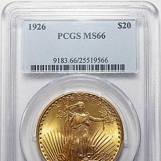 1926 Pcgs MS66 $20 Saint Gaudens