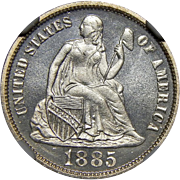 1885 Ngc PF66CAM Liberty Seated Dime