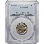 1927-D Pcgs MS65 Buffalo Nickel