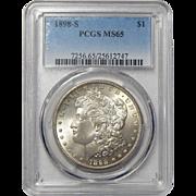 1898-S Pcgs MS65 Morgan Dollar
