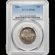 1896 Pcgs MS66 Barber Quarter