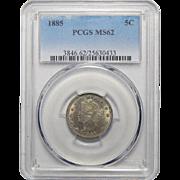 1885 Pcgs MS62 Liberty Nickel