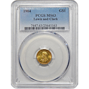 1904 Pcgs MS63 Lewis and Clark Gold Dollar
