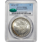 1878 7TF Reverse of 1879 Pcgs/Cac MS66 Morgan Dollar